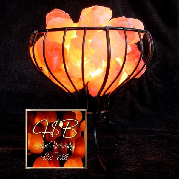 Fancy Feng Shui Basket Himalayan Salt Lamp