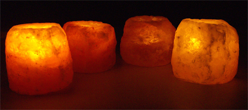 Natural Salt Crystal Candle Holders - XLarge - Eight Pack